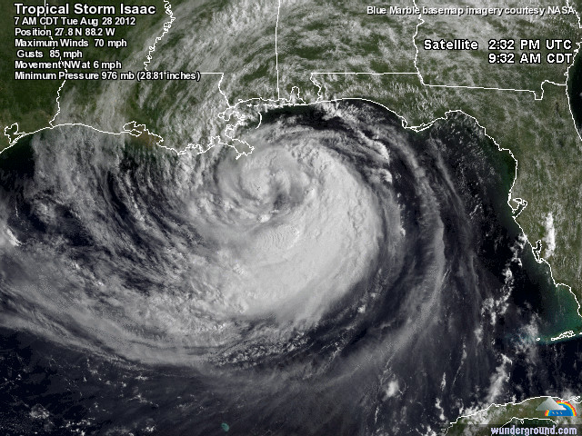 Link to Wunderground, on Isaac