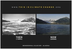 Mendenhall Glacier: Then (1894) and Now (2008)