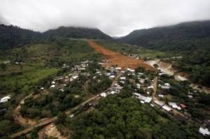 Mudslide in Pintada, Guerrero, Mexico, Sept 2013