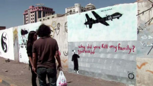 A  wall in the capital of Yemen, Sanaa. [Screenshot from RT ]video