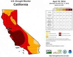CA Drought Map